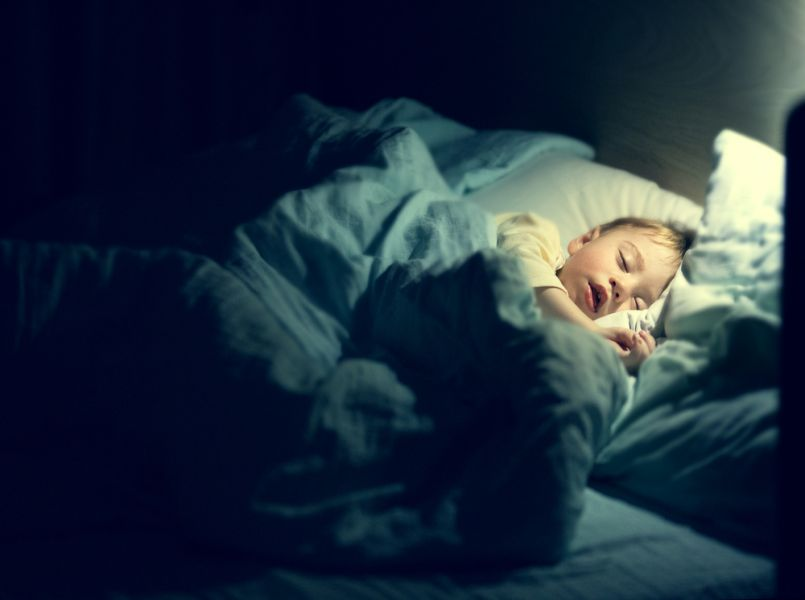 Important: give the child a strict bedtime for sufficient sleep