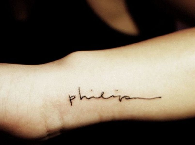 Inspiration: Tattoo with the name of your baby