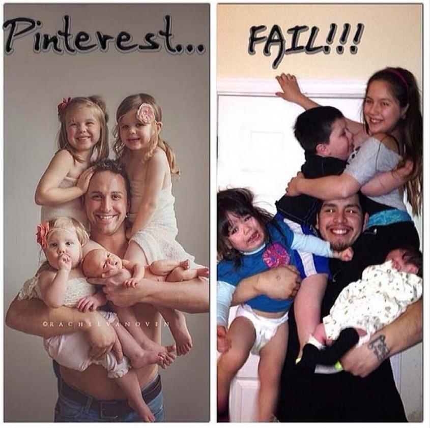 Expectativa vs realidad de fotos para bebés